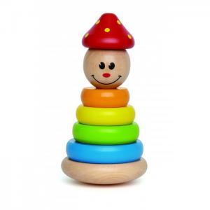 Деревянная игрушка  Яркая пирамидка Клоун Hape