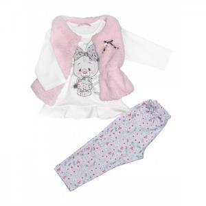 Комплект для девочки жилет, лонгслив и леггинсы 7575 Baby Rose