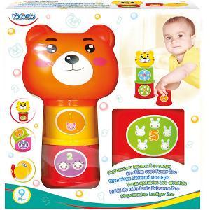 Пирамидка ToysLab Bebelino Весёлый зоопарк Toys Lab. Цвет: оранжевый